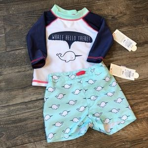 6-9 Month Whale Swim Outift